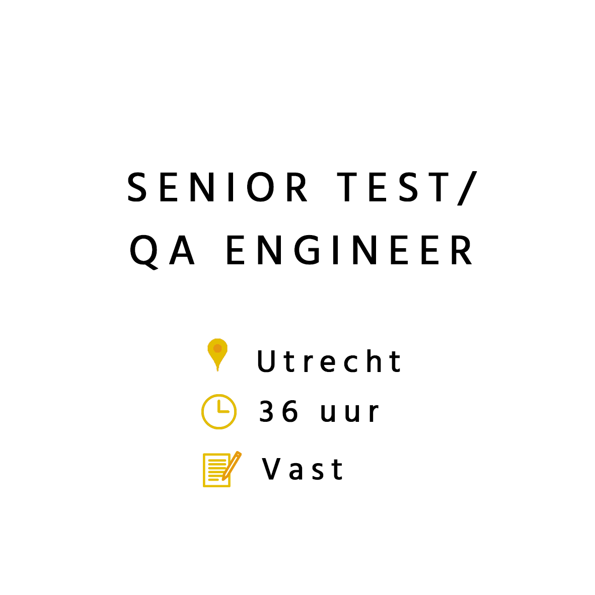 Senior Test / QA Engineer