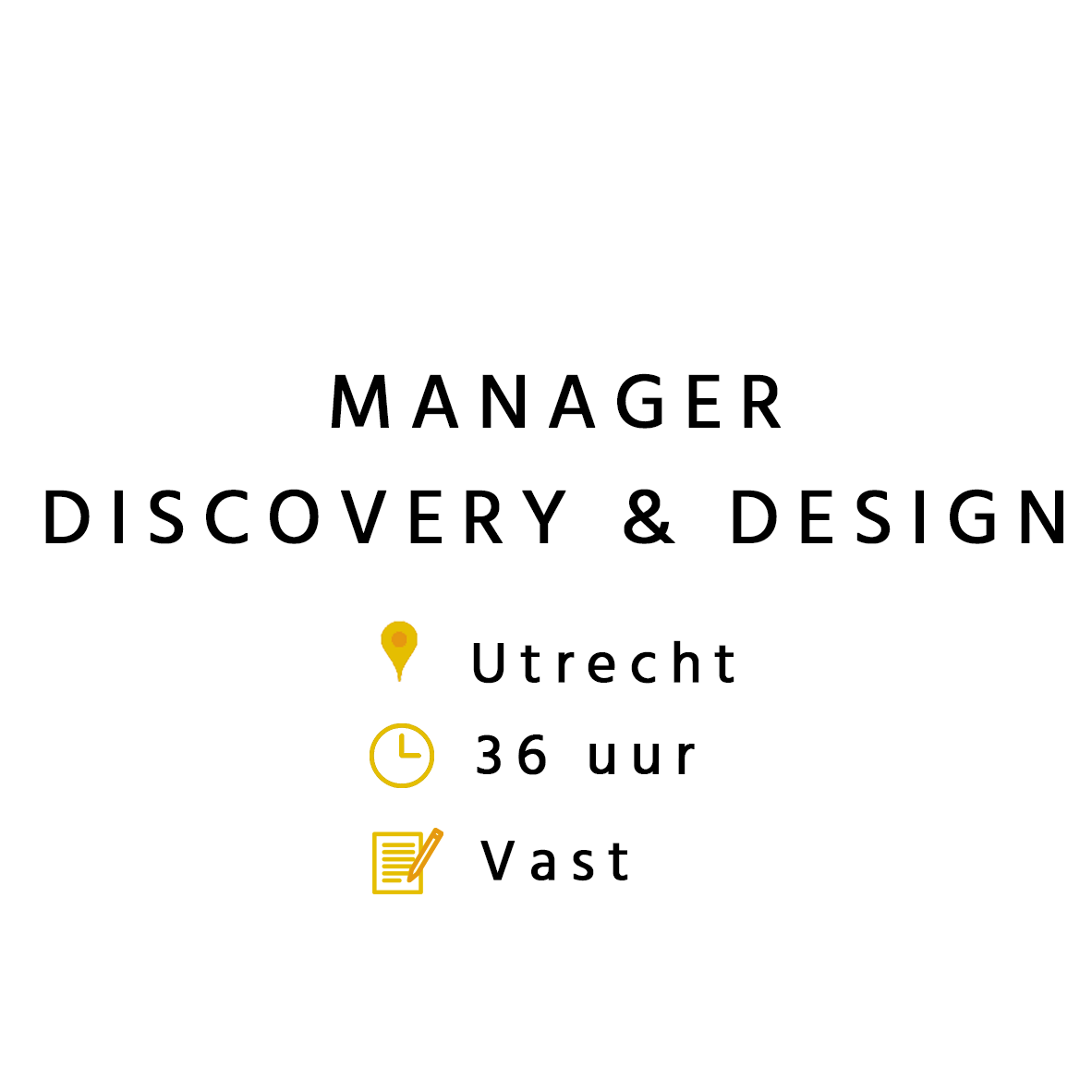 Manager Discovery & Design