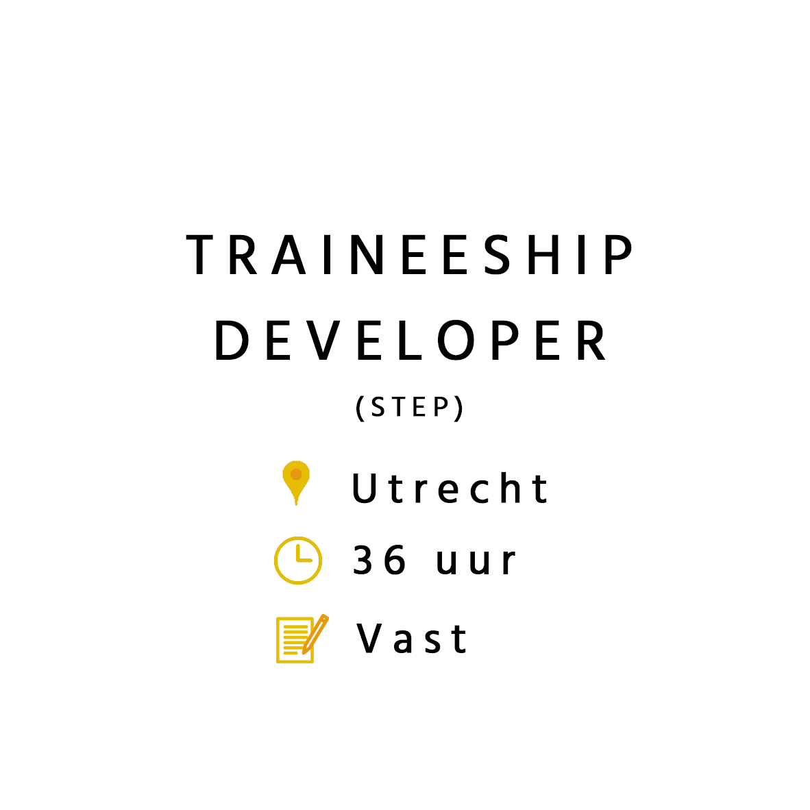 Traineeship Developer