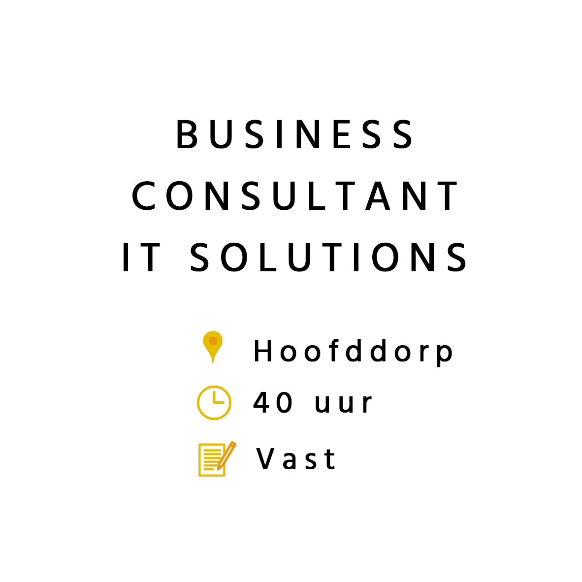 Business Consultant IT Solutions